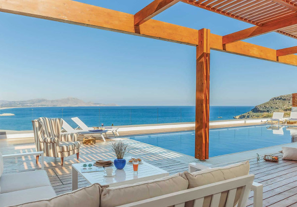 Villa Lindos Athena on the Greek Island of Rhodes sleeps 6 people