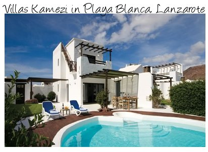 Villas Kamezi in Playa Blanca, Lanzarote are a collection of holiday villas sleeping up to 8 people