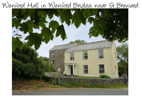 Wenford Hall is a large holiday cottage in North Cornwall. You'll find Wenford Hall in Wenford Bridge near St Breward