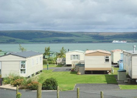 Wigbay Holiday Park is a caravan holiday park next to Loch Ryan in Dumfries and Galloway