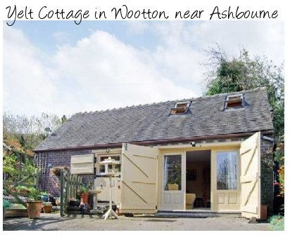 Yelt Cottage in Wootton, near Ashbourne is a holiday cottage for 2 people in rural Derbyshire