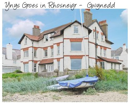 Ynys Groes is a large holiday cottage on the sea front in Rhosneigr